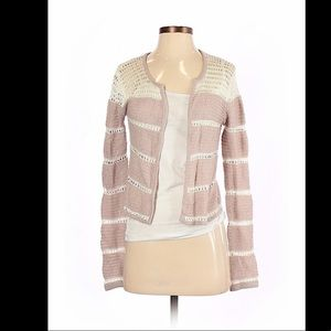 Frenchi knit and lace cardigan, small